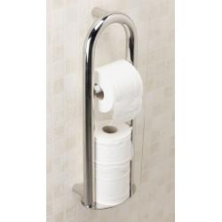 Barre d'appui porte papier toilette design