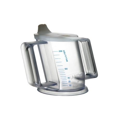 tasse ergonomique handycup transparente. Black Bedroom Furniture Sets. Home Design Ideas