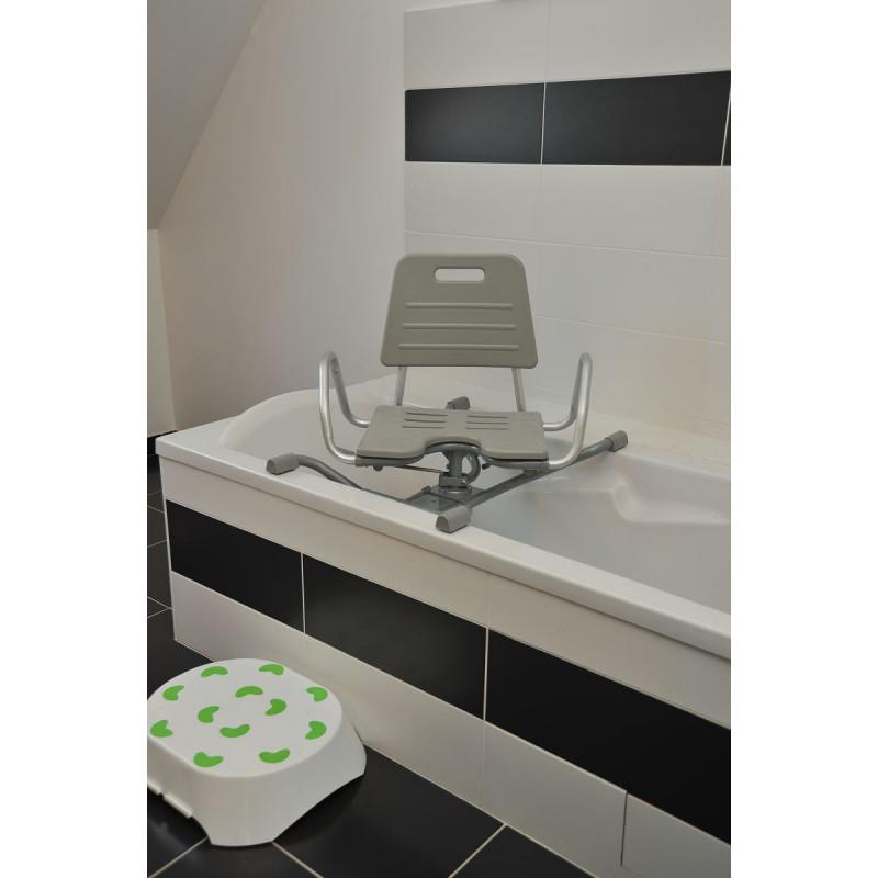 fauteuil de bain pivotant cap vert. Black Bedroom Furniture Sets. Home Design Ideas