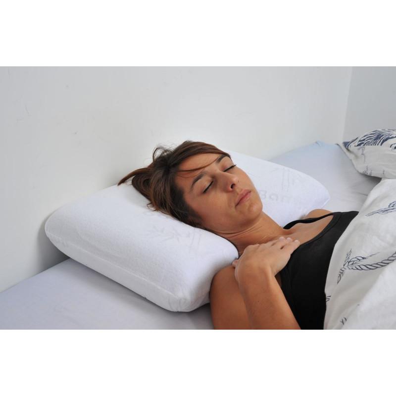 oreiller ergonomique forme thalasso 57 x 37 cm. Black Bedroom Furniture Sets. Home Design Ideas