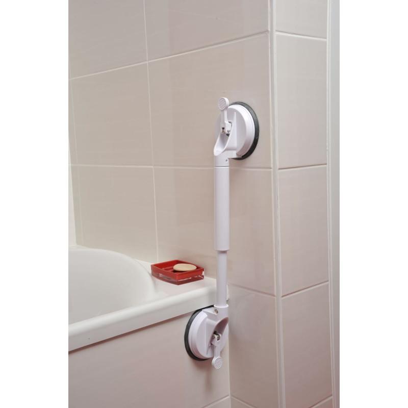 Barre ventouse strong 44 56 cm - Barre ventouse salle de bain ...