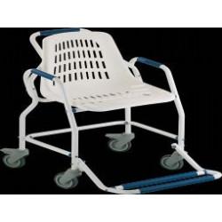Chaise de douche à roulettes