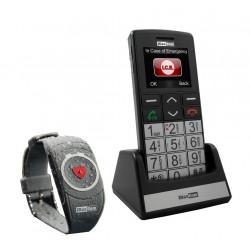 Téléphone GSM grosses touches - bracelet d'urgence et touche SOS