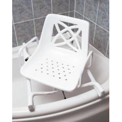 Siège de bain pivotant pour baignoire d'angle