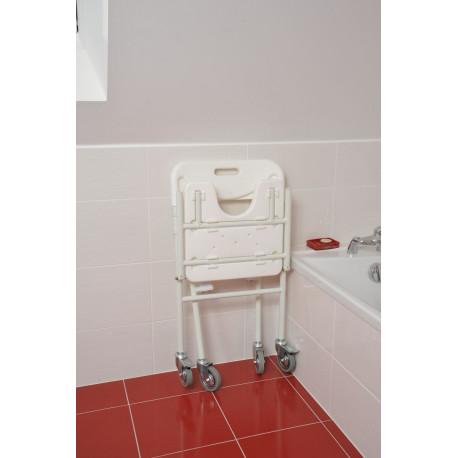 Chaise de douche pliante tobago roulettes for Chaise de douche pliante