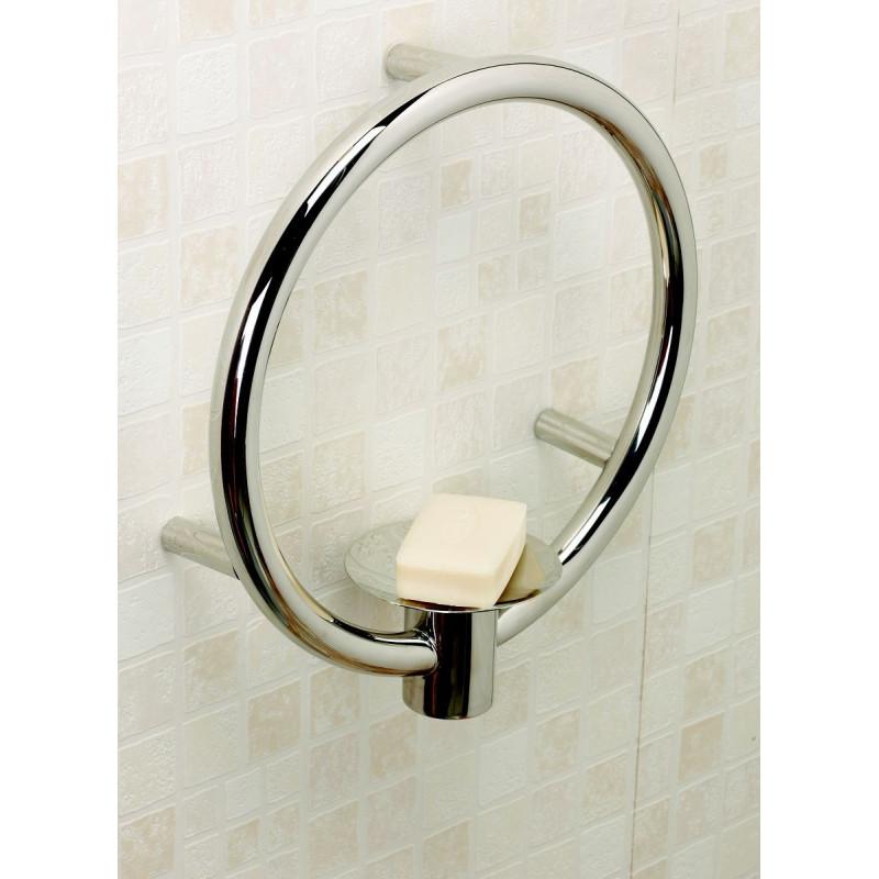 Barre d 39 appui porte savon design - Porte savon salle de bain ...