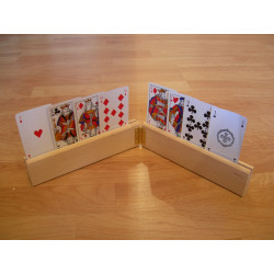 2 supports de cartes doubles + 1 jeu de cartes Optic