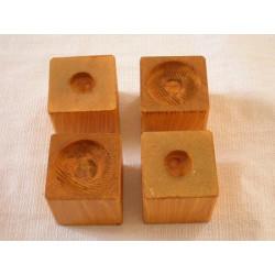 Surélévateurs de lit ou meuble en frêne 8 cm