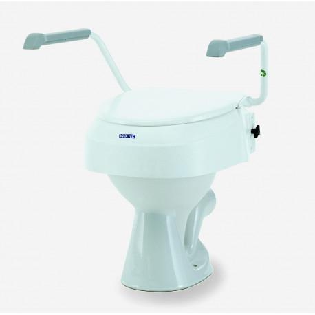 Réhausseur de WC avec accoudoirs réglable en hauteur