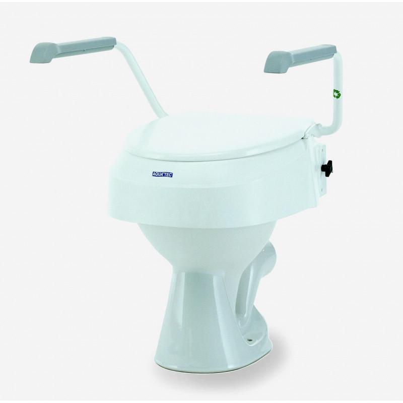 R hausseur de wc avec accoudoir r glable en hauteur for Wc suspendu reglable en hauteur