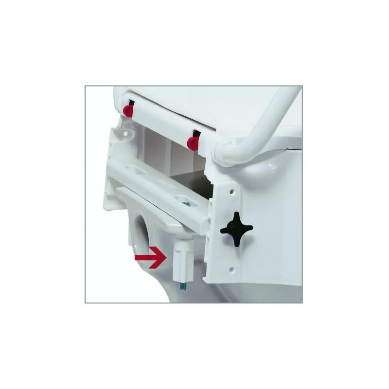 R hausseur de wc avec accoudoir r glable en hauteur - Rehausseur wc castorama ...