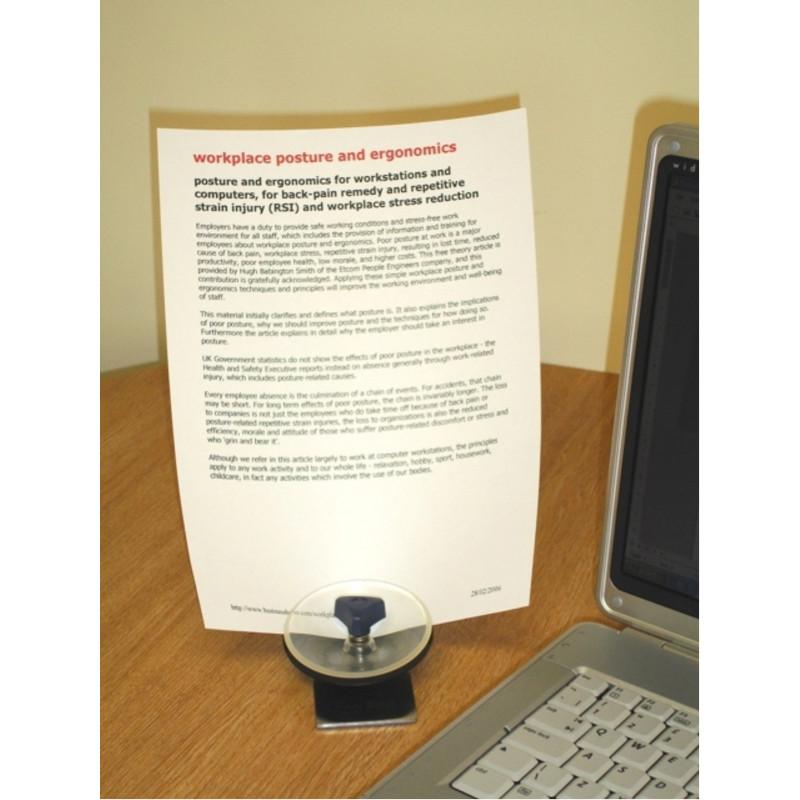 Porte papier orientable et pince de bureau for Porte de bureau