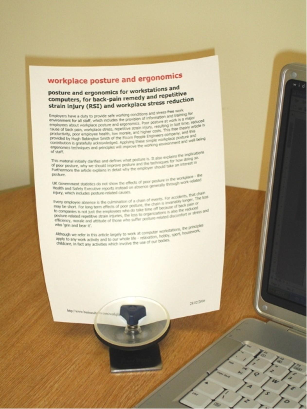 Pince De Porte Papier Bureau Orientable Et rxBedCo