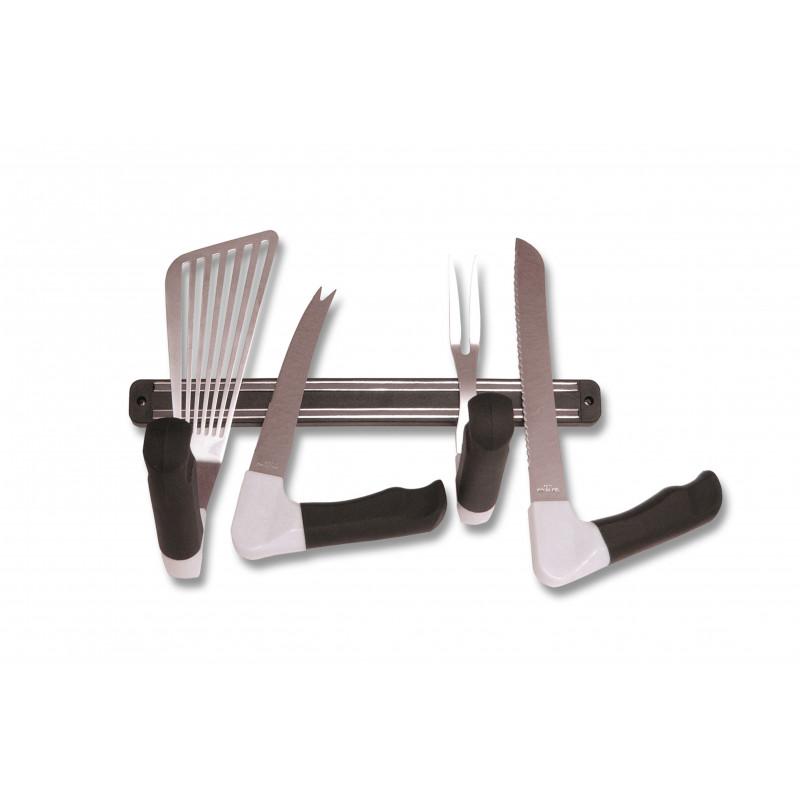 Support magn tique de rangement pour ustensiles ergonomiques for Support magnetique pour couteaux cuisine