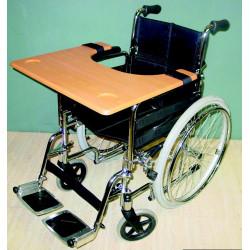 Tablette pour fauteuil roulant double face