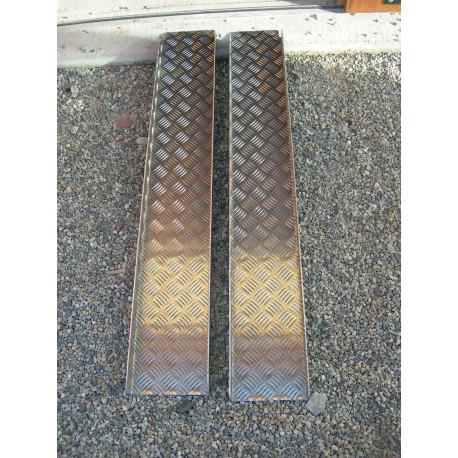 Paire de rampes 120 cm tôle à damier aluminium