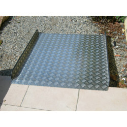Rampe d'accès aluminium longueur 1 m  X 90 cm