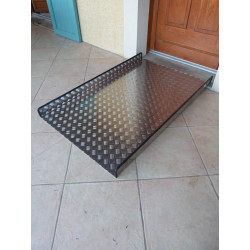 Rampe d'accès aluminium longueur 120 cm X 90 cm