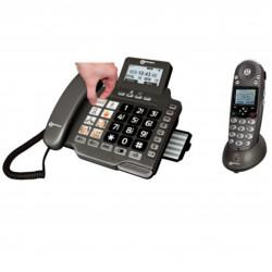 CombiDect 355 Grosses touche avec répondeur et combiné sans fil
