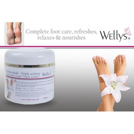 Crème pour les pieds triple action - 50 ml