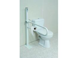 barre de maintien avec fixation au sol pour s curiser les toilettes matergo. Black Bedroom Furniture Sets. Home Design Ideas